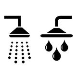 Shower symbols Stock Images