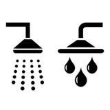 Shower symbols Stock Images