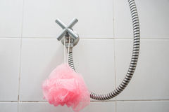Shower tap. In the bathroom Stock Images