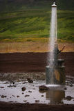 A shower into thin air. In the region of volcano Krafla hot water and sulphur come out off ground evrewhere Stock Images