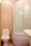 Shower unit and toilet bowl Royalty Free Stock Photography