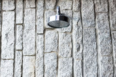The shower in wall Stock Images