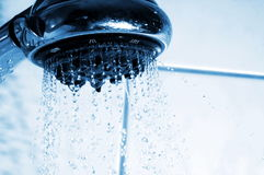 Shower and water Stock Images