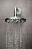Shower with water stream. Royalty Free Stock Images