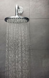 Shower with water stream. Royalty Free Stock Image