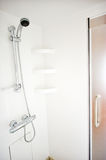Shower in yacht. A shower room with decorative glass in yacht Royalty Free Stock Photos