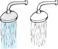 Showerhead com água Imagens de Stock Royalty Free