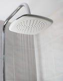 Showerhead tandis qu'eau courante Photographie stock libre de droits