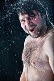 Showering man Stock Photography