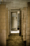Showers. In abandoned factory complex located near Warsaw, Poland Royalty Free Stock Images