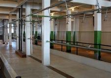 The Showers at Alcatraz. Federal Prison in San Francisco, California stock photos