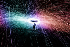 Showers of hot glowing sparks Stock Photography