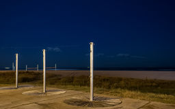 Showers in the night. Near to the beach Royalty Free Stock Photos
