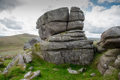 Showery Tor on Bodmin Moor stock photos