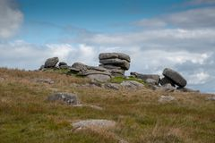 Showery Tor on Bodmin Moor stock image