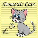 Showfamilj Kitty And Pedigree för inhemska katter vektor illustrationer