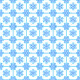 Showflake seamless background. Background with seamless pattern made of snowflakes in blue and white colours Stock Photos