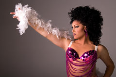 Showgirl. Royalty Free Stock Photo