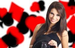 χαρτοπαικτική λέσχη showgirl Στοκ Εικόνες