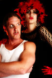 Showgirl and Tough Guy Royalty Free Stock Image