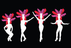 showgirls Στοκ Φωτογραφίες