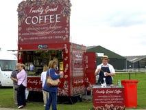Showground mobile Coffee Kiosk. Royalty Free Stock Photography