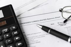 Showing and analysis of financial report. Business concept. stock image