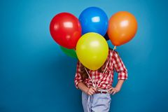 Showing balloons Stock Photography