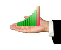Showing a bar chart Royalty Free Stock Photo