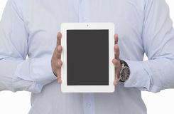 Showing a blank digital tablet Stock Images
