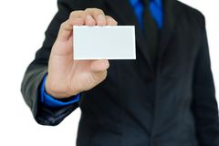 Showing business card Stock Photos