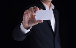 Showing business card Stock Images
