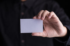Showing business card stock photography