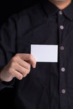 Showing business card Stock Image