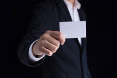 Showing business card Royalty Free Stock Photos
