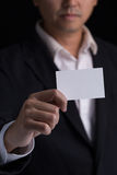 Showing business card stock photo