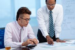 Showing business document Stock Image