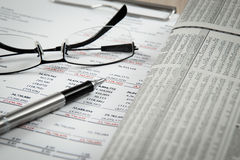 Showing business and financial Stock Image