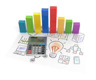 Showing business and financial report. Business chart showing financial success Royalty Free Stock Photography