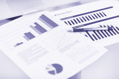 Showing business and financial report. Royalty Free Stock Photography