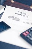 Showing business and financial report. Sales plan Royalty Free Stock Images
