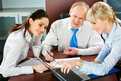 Showing business point Stock Photography