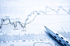 Showing business report concept. Showing business and financial report concept Royalty Free Stock Photos