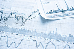 Showing business report concept. Showing business and financial report concept Royalty Free Stock Image