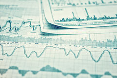 Showing business report. Showing business and financial report Stock Image
