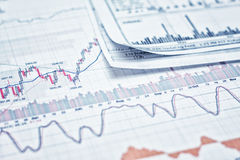 Showing business report. Showing business and financial report Royalty Free Stock Photography