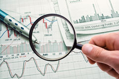 Showing business report. Showing business and financial report Stock Photography