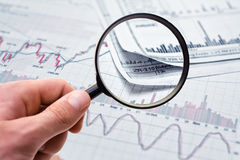 Showing business report. Showing business and financial report Royalty Free Stock Photo