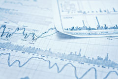 Showing business report. Showing business and financial report Royalty Free Stock Images