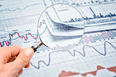 Showing business report Stock Image